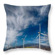Creosote And Wind Turbines Throw Pillow