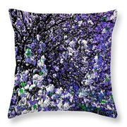 Crepe Myrtle Tree Purple Lilac Spring Throw Pillow