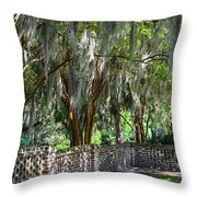 Crepe Myrtles Of Middleton Place Throw Pillow
