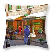Crepes Et Fondues In Old Montreal-qc Throw Pillow