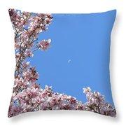 Crescent Around Crescent Throw Pillow