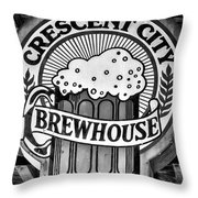 Crescent City Brewhouse - Bw Throw Pillow