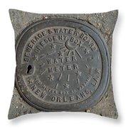 Crescent City Water Meter Throw Pillow