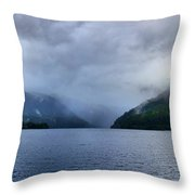 Crescent Lake Throw Pillow