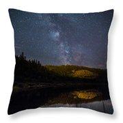 Crescent Lake Midnight Throw Pillow
