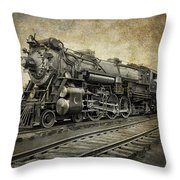 Crescent Limited Locomotive Of 1927 Throw Pillow