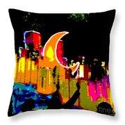 Crescent Moon Throw Pillow