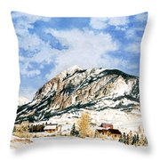 Crested Butte Mountain Throw Pillow