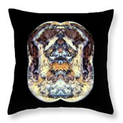 Crested Goose Fighter Throw Pillow