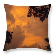 Cresting The Storm Clouds Throw Pillow
