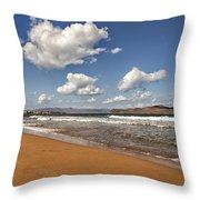 Cretan Beach Throw Pillow