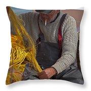 Crete Fisherman   #9348 Throw Pillow