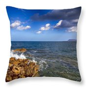 Crete Landscape Throw Pillow