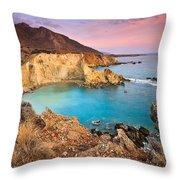 Cretan Coastline. Throw Pillow