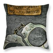 Crime Scene Investigation Throw Pillow by Paul Ward