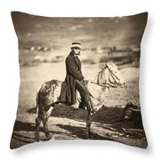 Crimean War Postmaster Throw Pillow