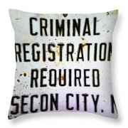 Criminal Registration Required Absecon City Nj Throw Pillow