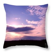 Crimped Clouds Throw Pillow