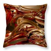 Crimson And Gray Glass Macro Ws4 Throw Pillow