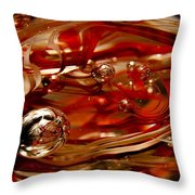 Crimson And Gray Glass Macro Ws6 Throw Pillow