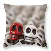 Crimson And White Throw Pillow