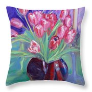 Crimson Chorus Throw Pillow