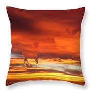 Crimson Fever Throw Pillow