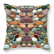 Crimson Field Stone Throw Pillow