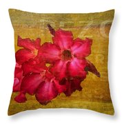 Crimson Floral Textured Throw Pillow