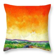 Crimson Into Lime Throw Pillow