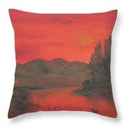 Crimson Lake Throw Pillow