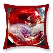 Crimson Orb Throw Pillow