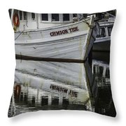 Crimson Tide And Reflection Throw Pillow