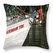 Crimson Tide Bow Throw Pillow by Michael Thomas