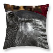 Crimson Tide For Christmas Throw Pillow by Kathy Clark