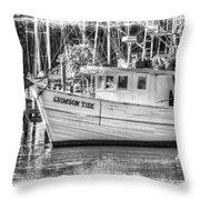 Crimson Tide Grungy Throw Pillow