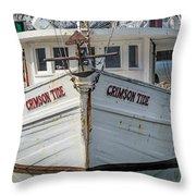 Crimson Tide Headon Cropped  Throw Pillow
