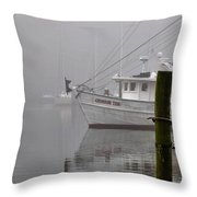 Crimson Tide In The Mist Throw Pillow