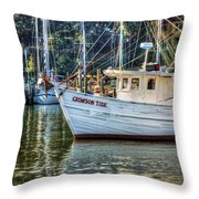 Crimson Tide In The Sunshine Throw Pillow by Michael Thomas