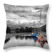 Crinan Canal Scotland Throw Pillow