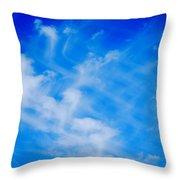 Cris Cross Clouds IIi Throw Pillow
