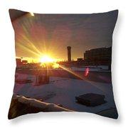 Crisp Chicago Morning Throw Pillow