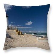 Crisp Point Lighthouse 17 Throw Pillow