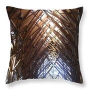 Criss Cross Chapel Throw Pillow