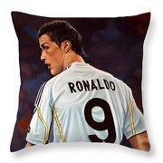 Cristiano Ronaldo Throw Pillow