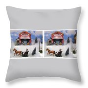 Christmas Decoration - Gently Cross Your Eyes And Focus On The Middle Image Throw Pillow
