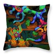 Critters Climbing Walls On Venus Throw Pillow