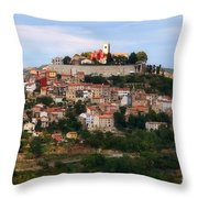 Croatian City Motovun  Throw Pillow