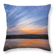 Crochet The Sky Throw Pillow
