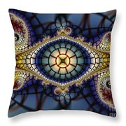 Crochet Work-geometric Abstraction Throw Pillow